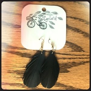 """Jewelry - Re""""Cycle""""d Feather-look Earrings"""